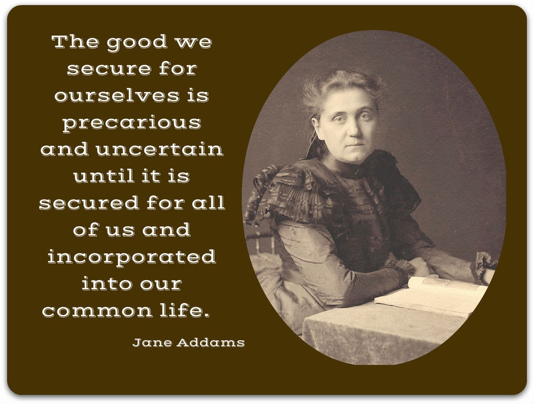 the life of jane addams essay Maintained by the jane addams hull-house museum and the college of  jane  addams's biography and a selection of fully documented photo essays on the.
