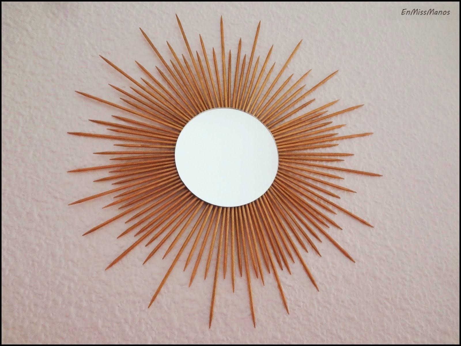 Espejo de sol de palitos de brocheta