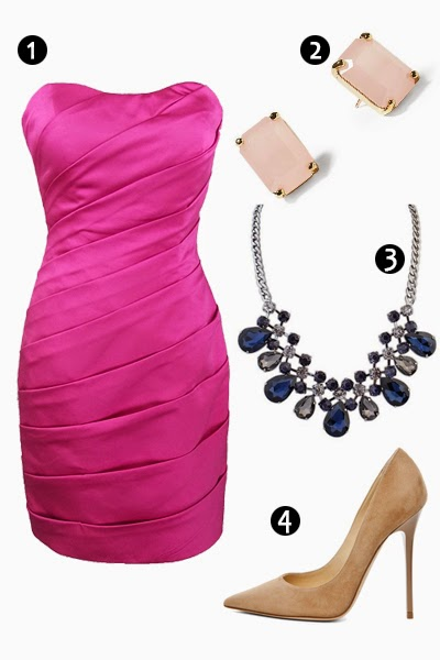 fuchsia bridesmaid dress-RBD001