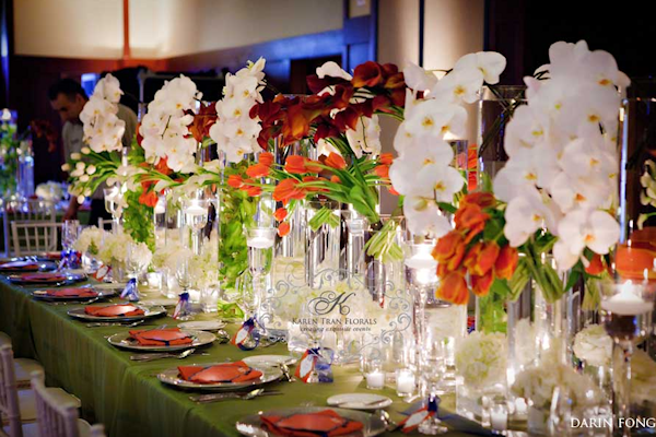 Green wedding flowers centerpieces http refreshrose