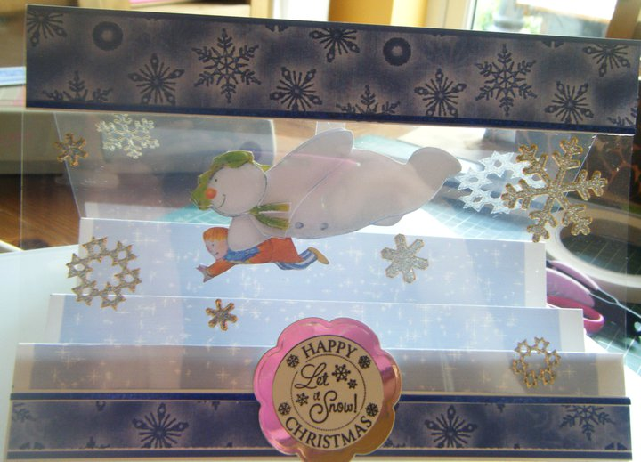 SNOWMAN ACETATE STEPPER CARD