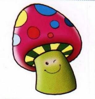Desenho de cogumelo colorido