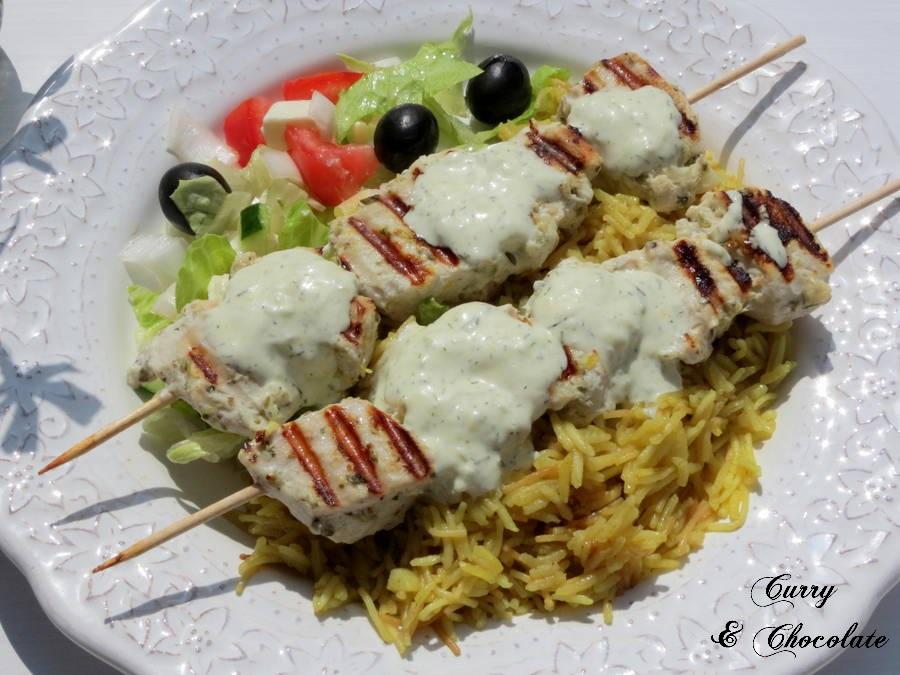 Pollo souvlaki - Chicken souvlaki