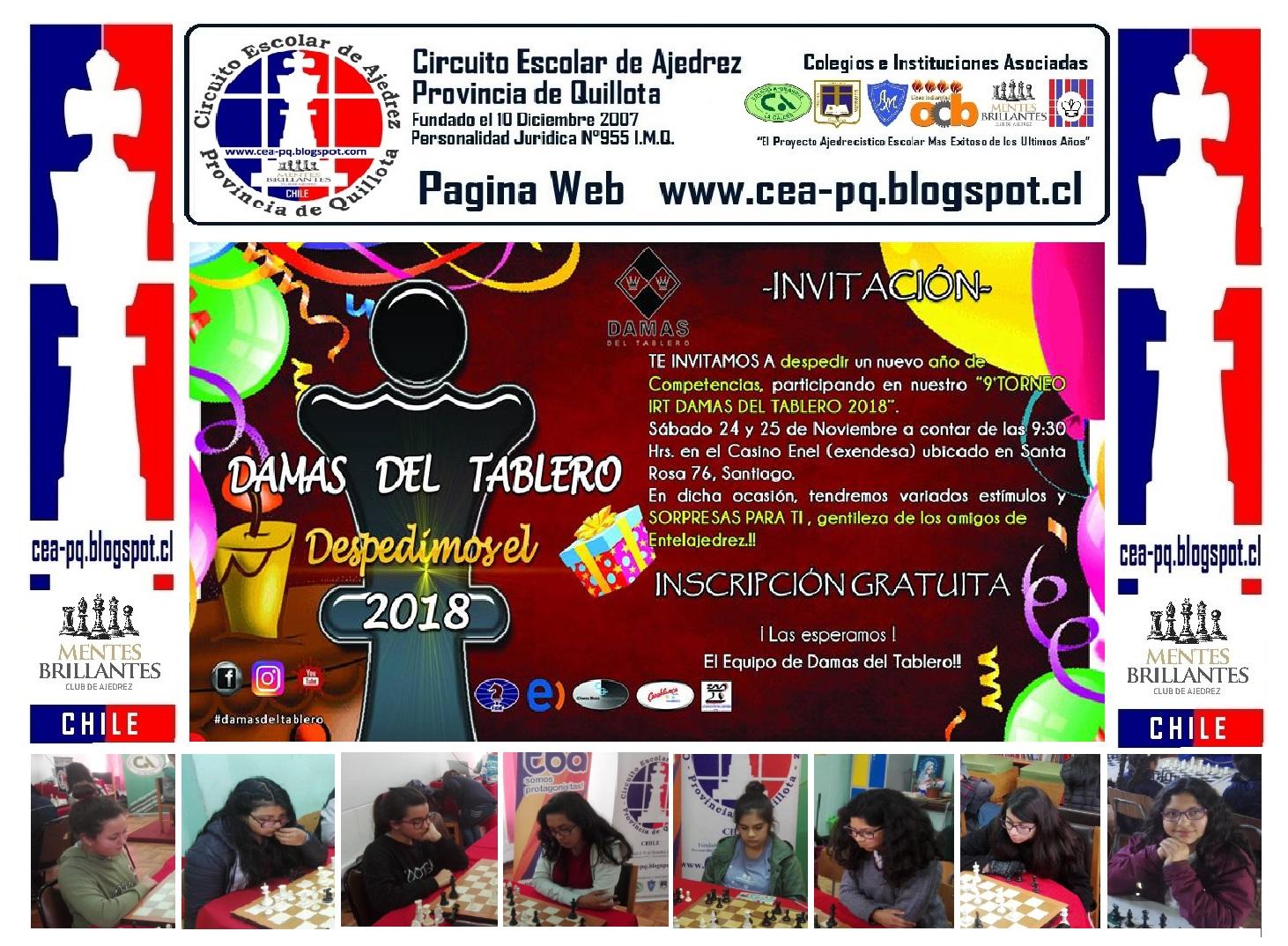 CEAPQ - MENTES BRILLANTES PARTICIPARAN EN DAMAS DEL TABLERO 2018