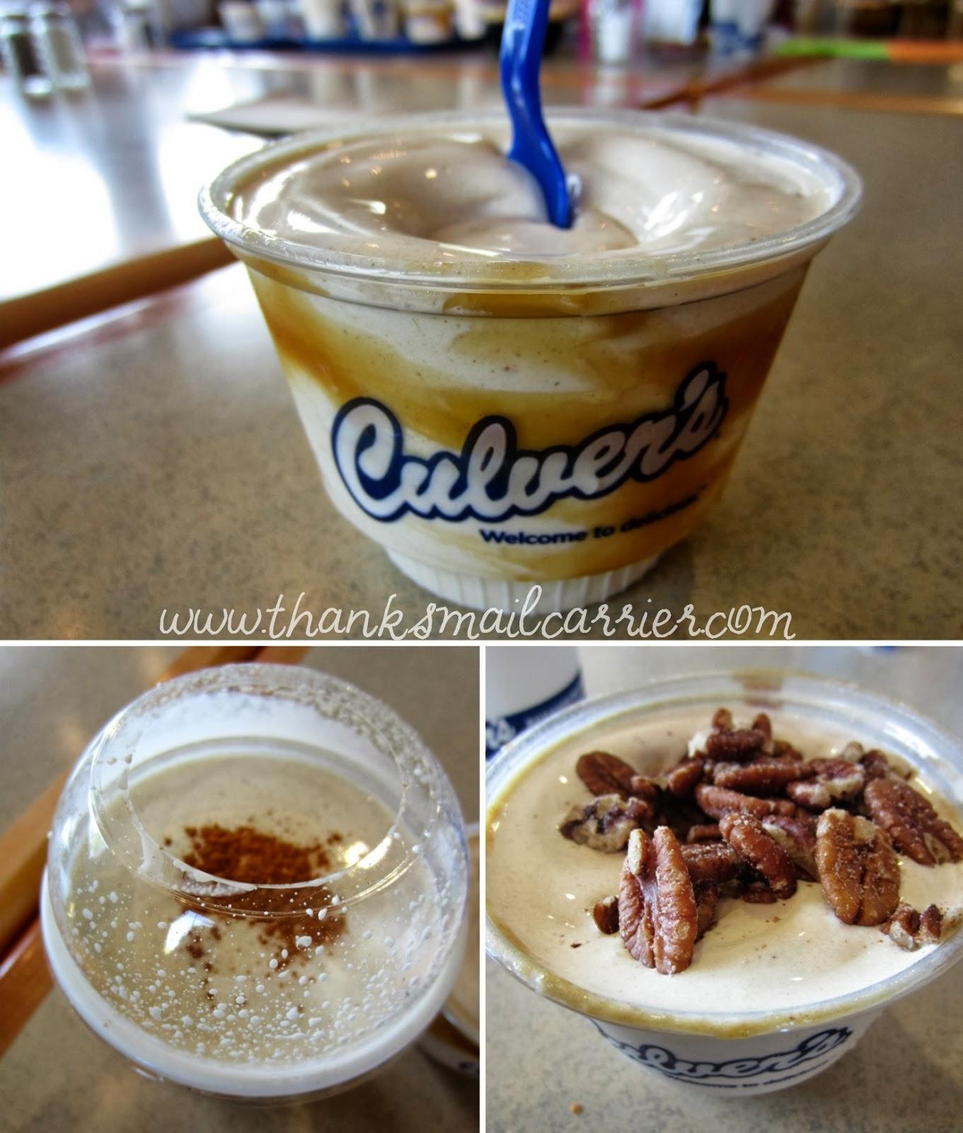Culver's pumpkin desserts