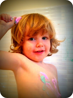toddler paint hair