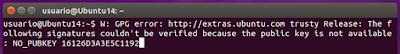 W: GPG error: http: extras.ubuntu.com