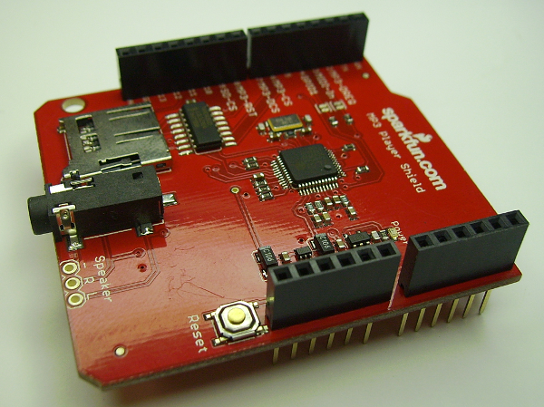 Arduino uno e shield mp player sparkfun cia