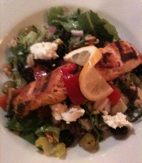 The Vineyards Trattoria and Pizzeria dish Salmon Salad