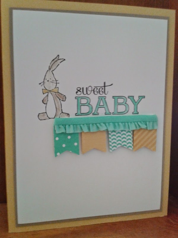 Stampin Up baby card