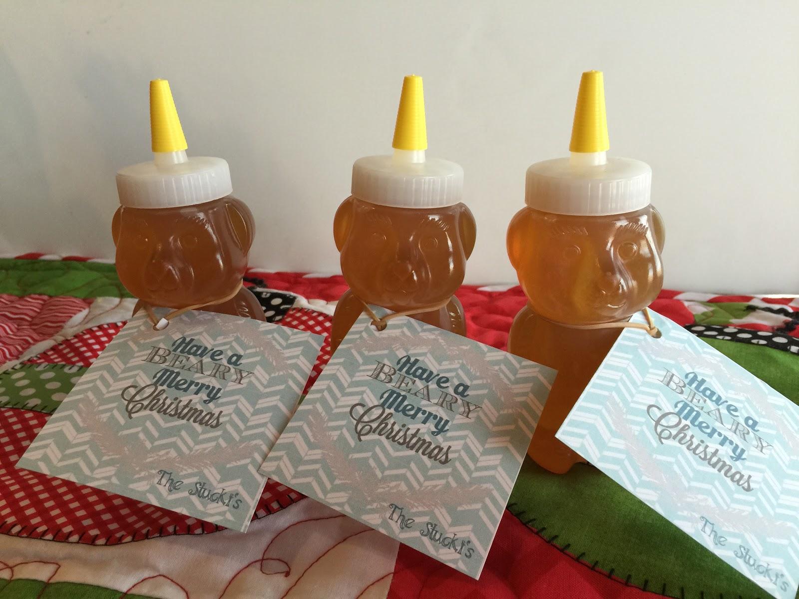 Have a Beary Merry Christmas Gift Idea with Honey Bear for Neighbor ...