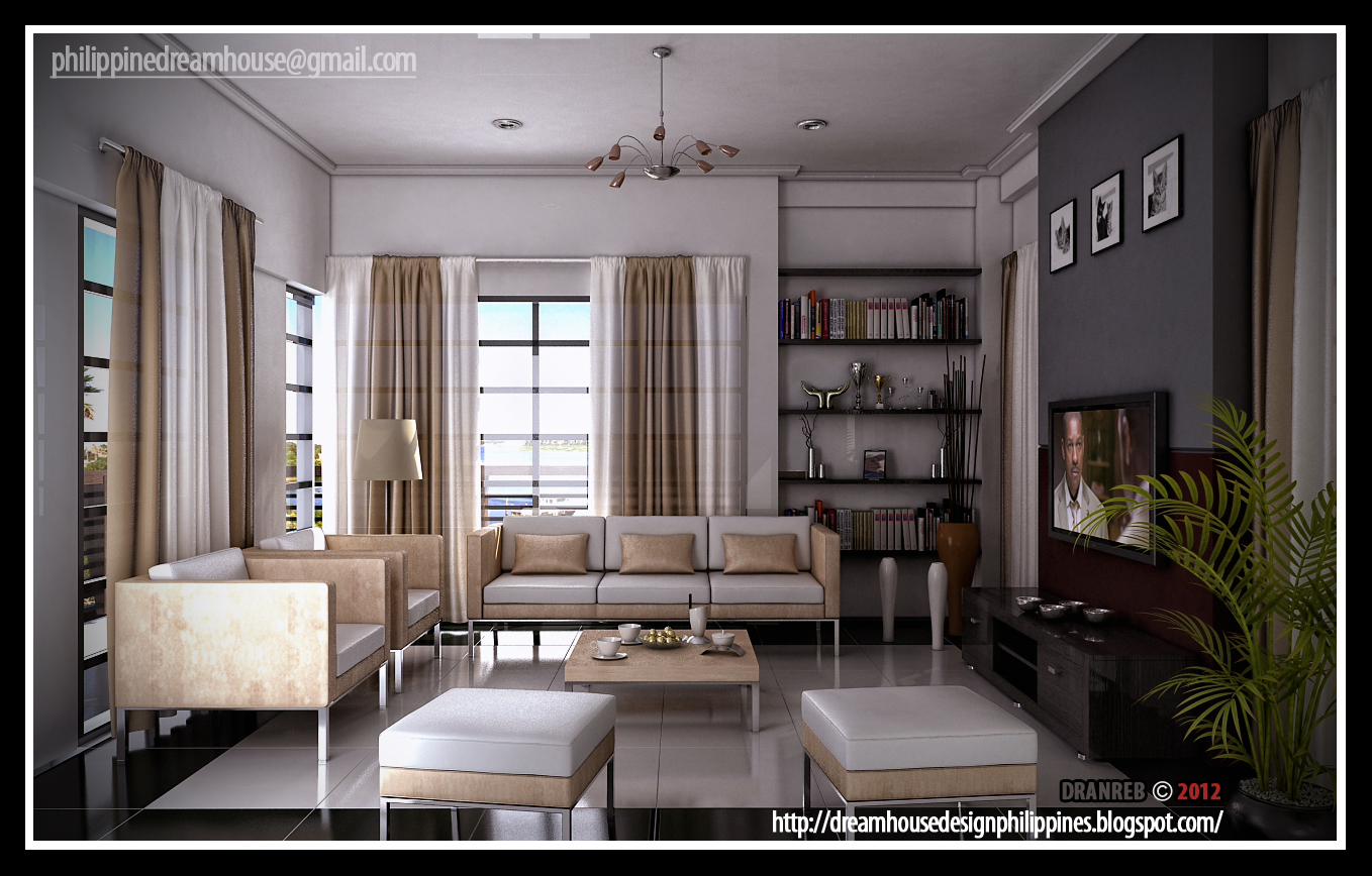 Philippine dream house design modern living room for Modern house living room design