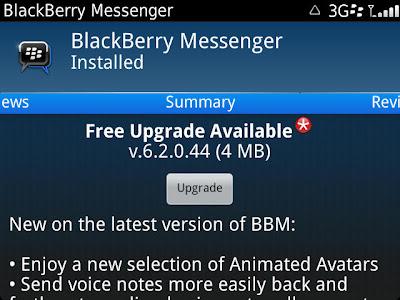 BlackBerry Messenger Updated to v6.2.0.44