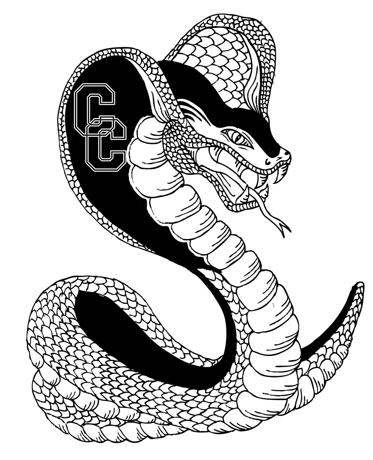 King Cobra Snake Tattoo Design