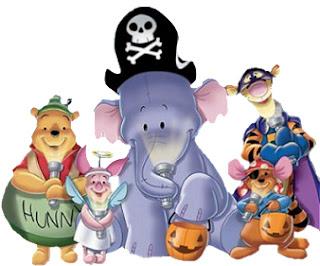 winnie the pooh en halloween
