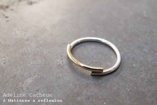 Bague Adeline Cacheux argent et or Minimal Wire