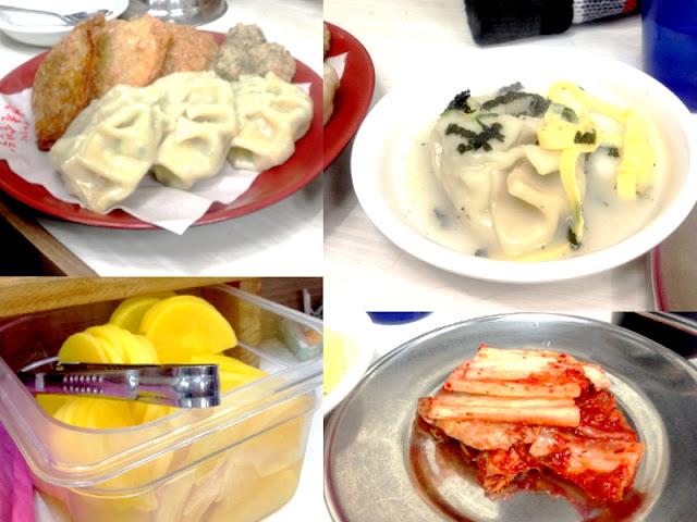Korean Dumplings in Insadong