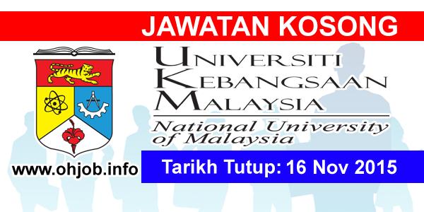 Jawatan Kerja Kosong Pusat Perubatan Universiti Kebangsaan Malaysia (PPUKM) logo www.ohjob.info november 2015