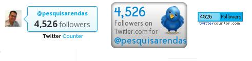 Quem tem mais seguidores no Twitter? Twittercounter o contador mais completo no Twitter. 5