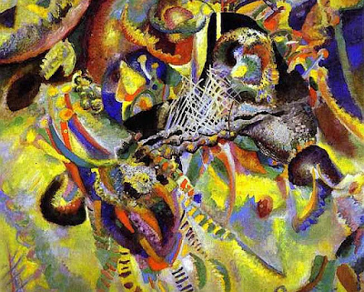 An abstract painting by Kandinsky
