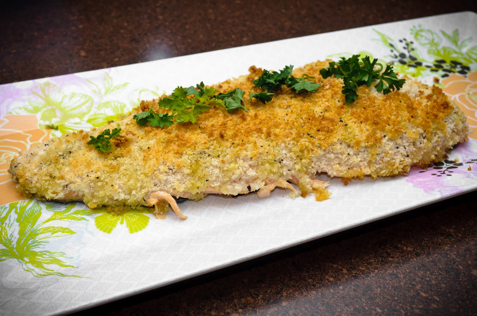 Hedlund home cooking panko crusted oven fried fish for Panko fried fish