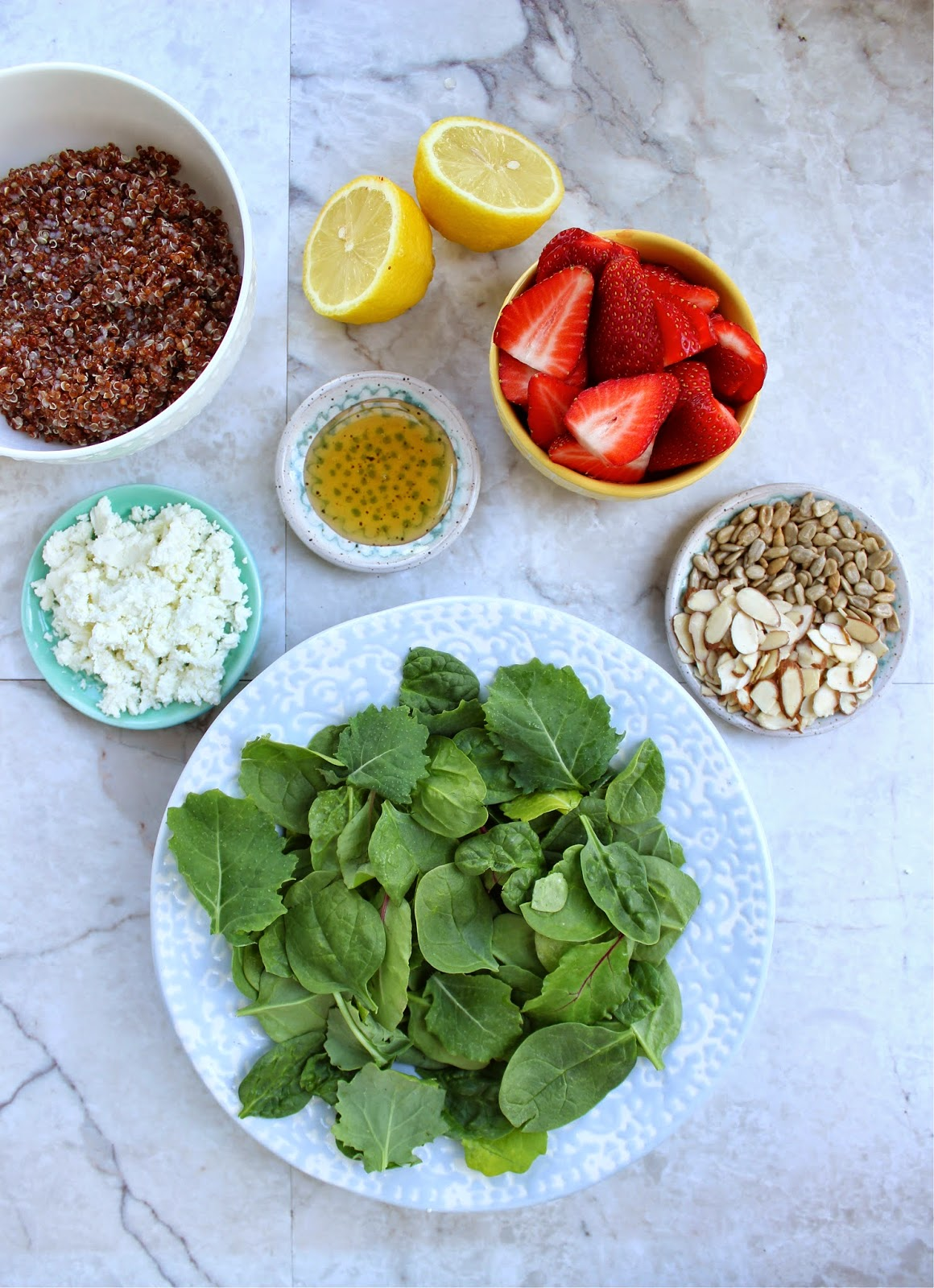 Stew or a Story: Spinach Strawberry Salad with Coconut ...
