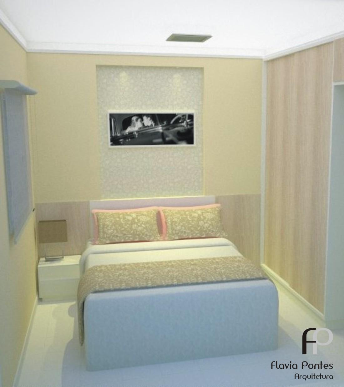 quarto do casal de 2 65 x 3 20m recebeu atenção especial da  #7E764D 1100 1240