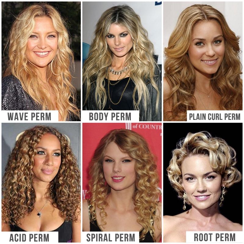 Regular Perm Vs Spiral Perm Photos Picture | Short