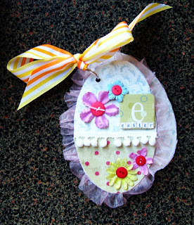 Easter egg mini album scrapbook