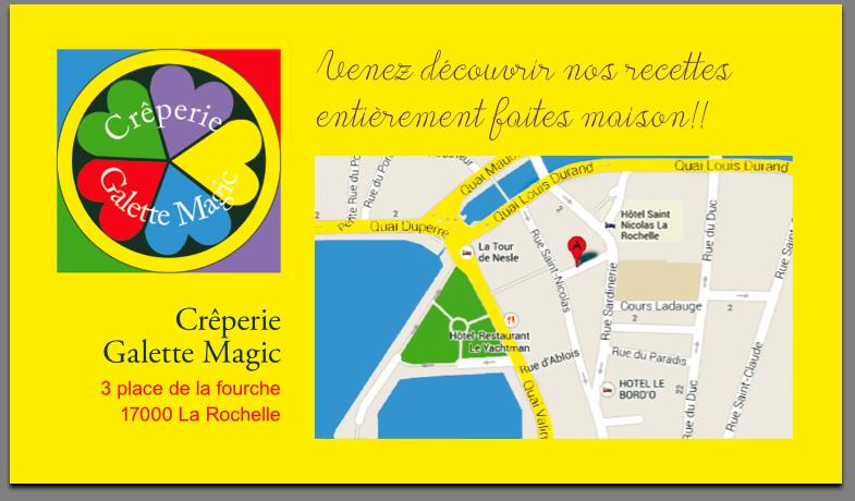 Creperie Galette Magic Carte De Visite