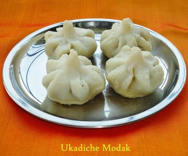 Ukadiche modak in a plate