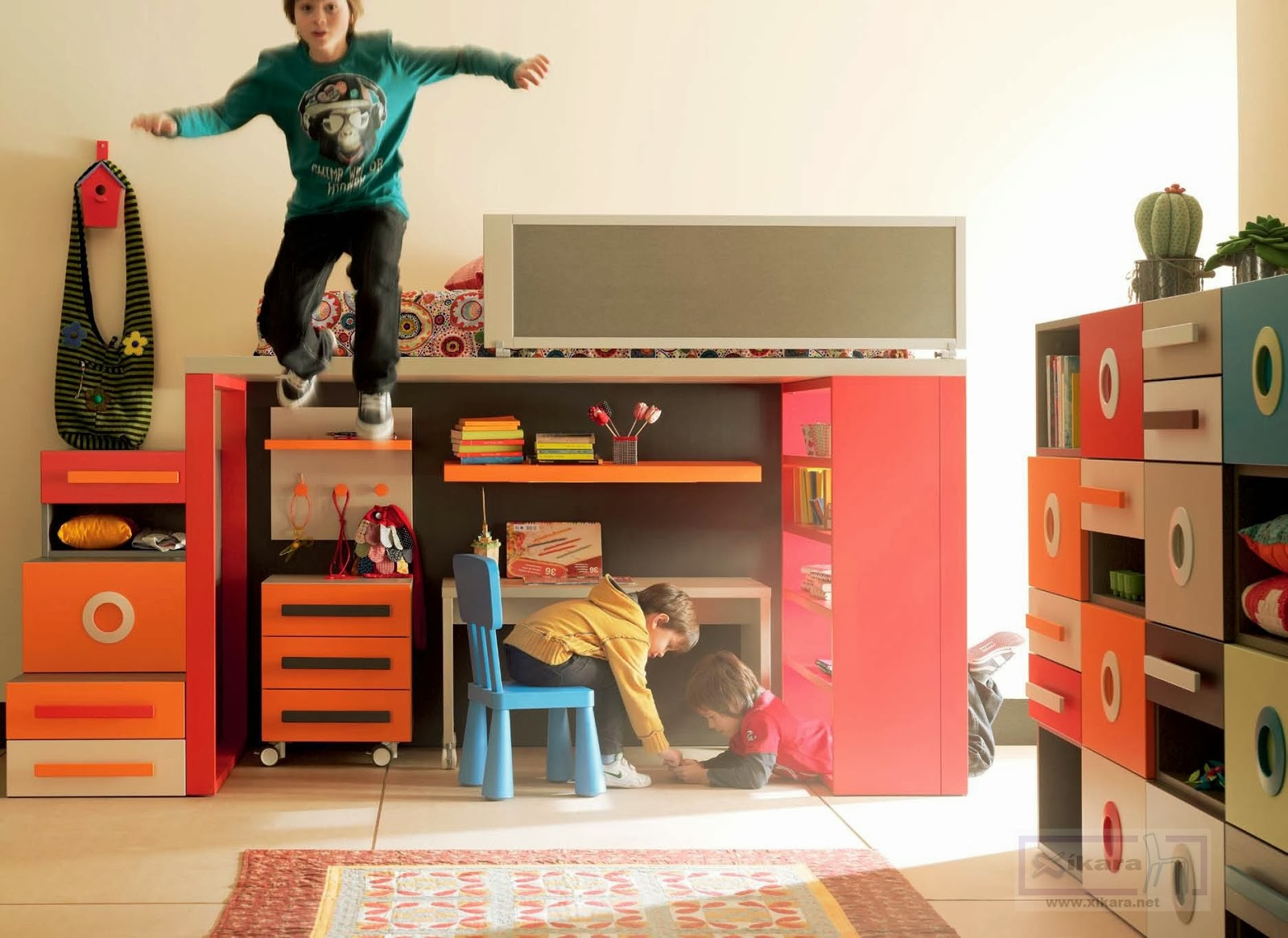 Camas altas juveniles - Escalera cama infantil ...