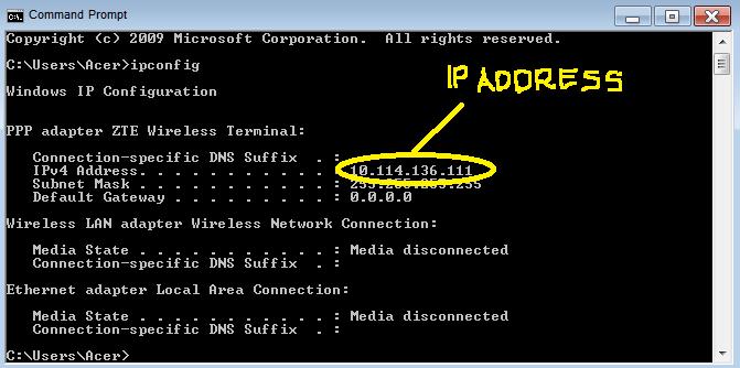 IP Address Berhasil Ditemukan