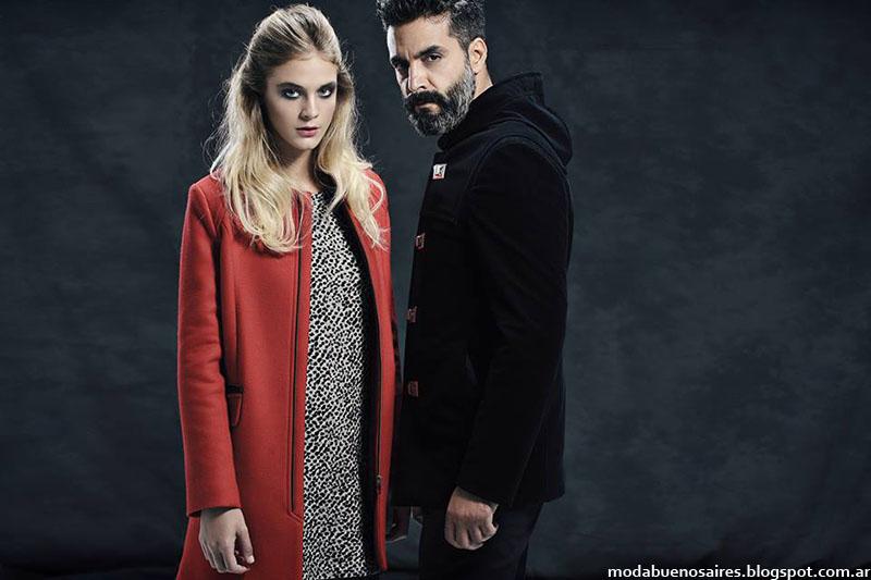 Tapados hombre y mujer moda otoño invierno 2015.