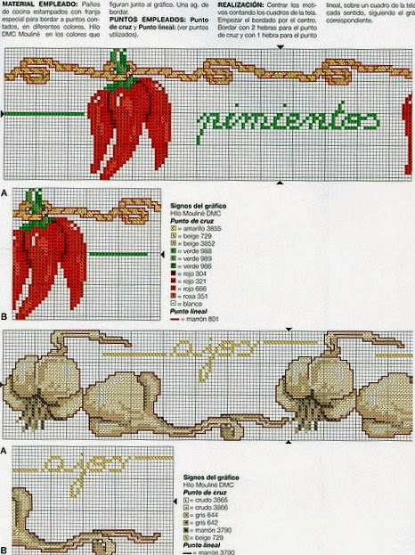 Вышивка крестом схема перец