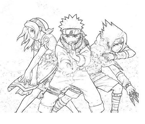 Desenhos de Naruto para colorir jogos de pintar e imprimir