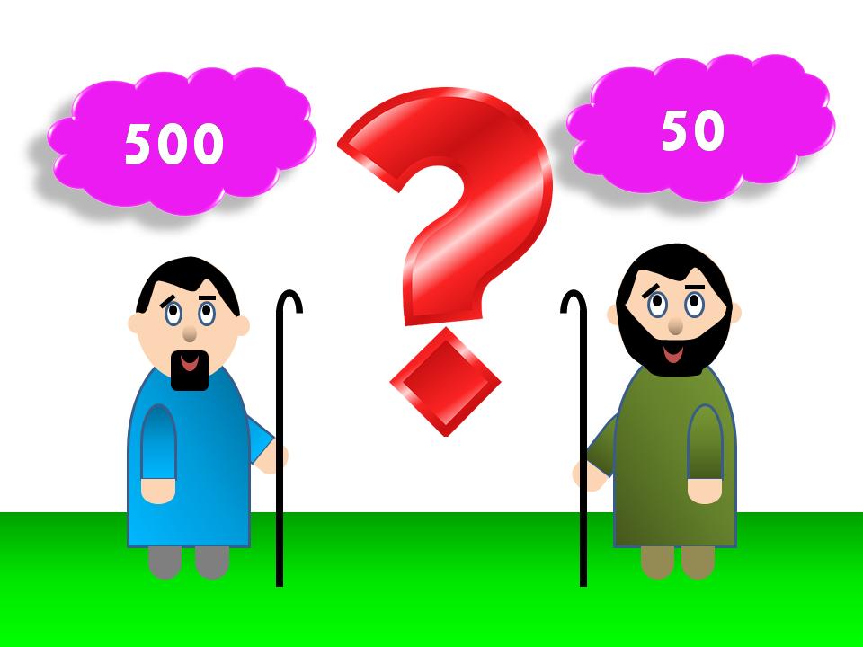 Resultado de imagem para Os dois devedores (Lc 7.40-43) - Parábola