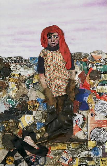 Artistas que trabajan con materiales de descarte for Plastico para impermeabilizar lagunas