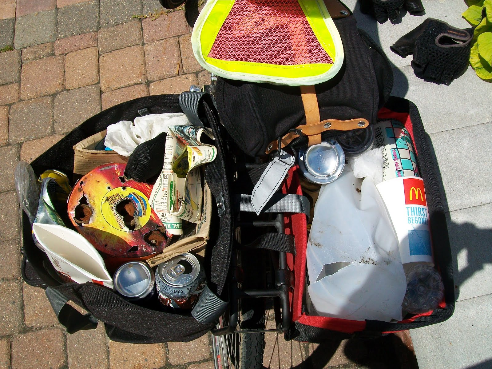 Still Plenty of Roadside Litter for Velosters to Clean Up.