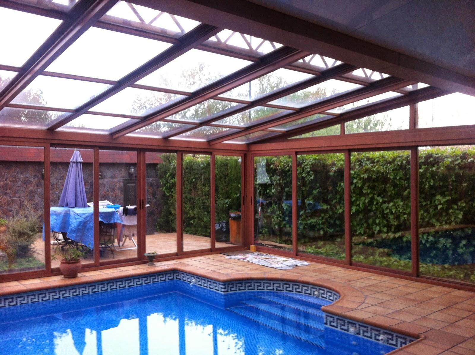 Techo fijo de vidrio para piscina fotos de cubiertas for Techos para albercas