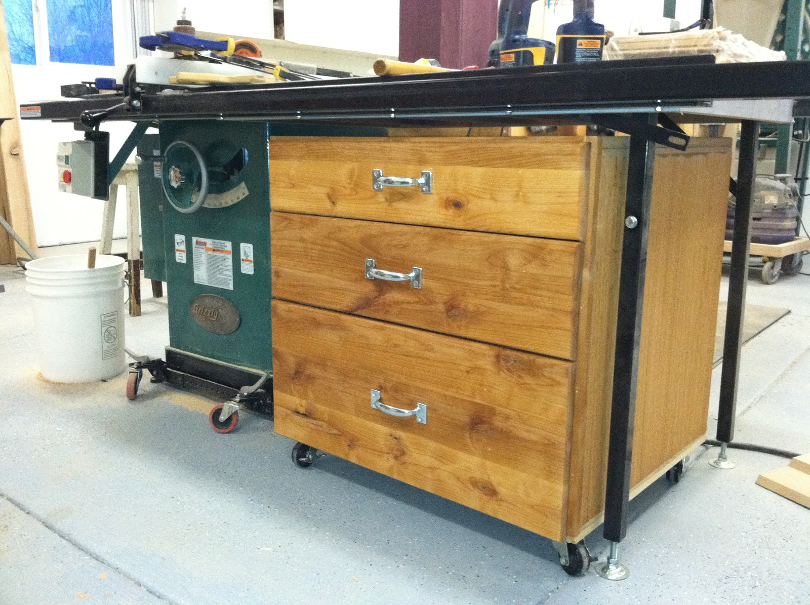 Scott And Judy Mann Storage Cabinet Under Table Saw