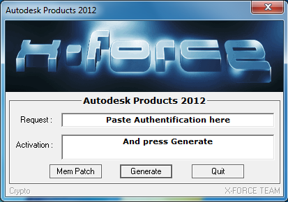 is the Autodesk Products 2012 Keygen program from the famous Crack