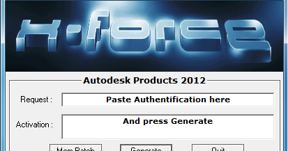 2012 Product keys for Autodesk products