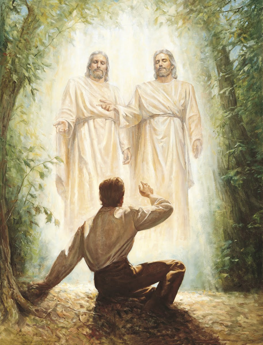 Heavenly Father and Jesus Christ appearing to Joseph Smith