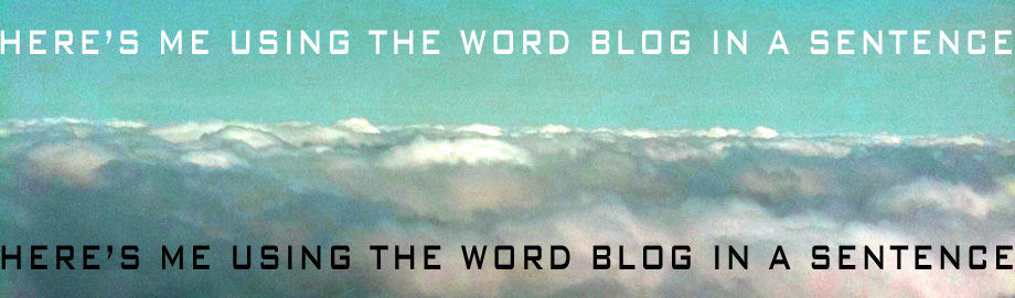 Here's Me Using the Word Blog in a Sentence