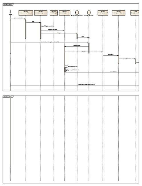 przykładowy diagram sekwencji podzielony w raporcie RTF na dwie strony