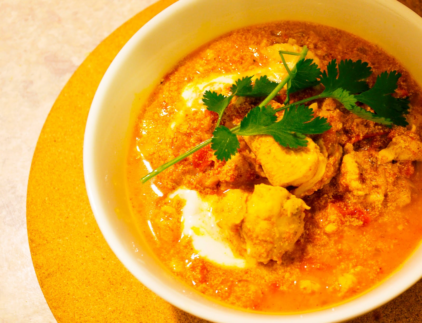 how to make chicken curry with yogurt