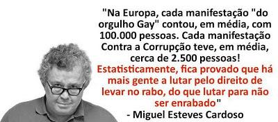 Miguel Esteves Cardoso gay citação