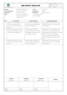 Job Safety Analysis (JSA)