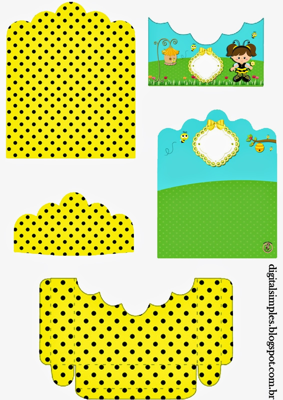 Bees Free Printable Candy Package Support.